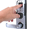 Image of biometric lock.