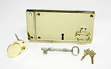Image of a Brass Lock and Key