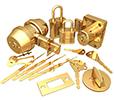Image of many locks and keys.