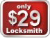 Image of 29 dollars for locksmith service.